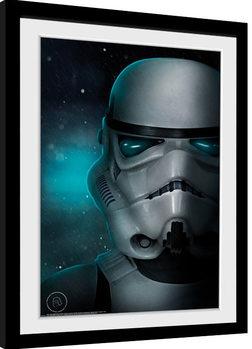 Inramad poster Stormtrooper - Helmet