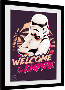 Inramad poster Stormtrooper - Neon