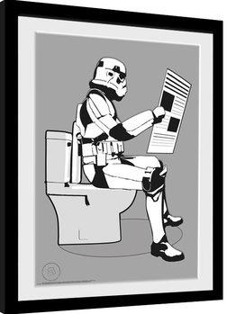 Inramad poster Stormtrooper - Storm Pooper