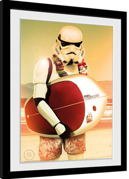Inramad poster Stormtrooper - Surf