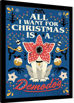 Inramad poster Stranger Things - All I Want For Christmas