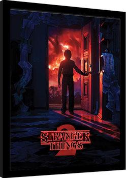 Inramad poster Stranger Things - Doorway