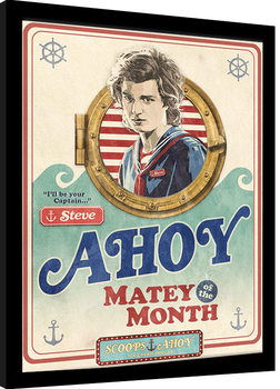 Inramad poster Stranger Things - Matey of the Month