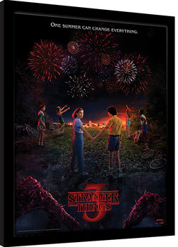 Stranger Things - One Summer Inramad poster
