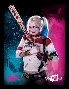 Suicide Squad - Harley Quinn Inramad poster