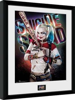 Inramad poster Suicide Squad - Suicide Squad - Harley Quinn Good Night