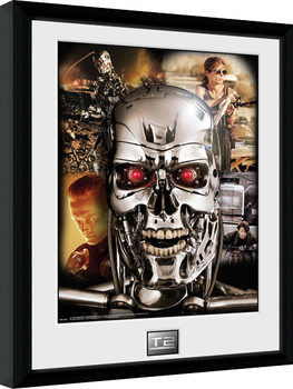 Terminator 2 - Collage Inramad poster