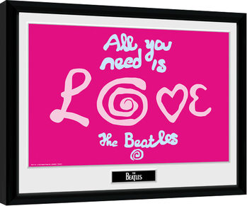 The Beatles - All You Need Is Love Inramad poster