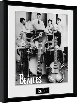 The Beatles - Instruments Inramad poster