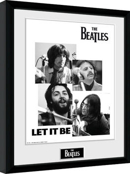 Inramad poster The Beatles - Let It Be