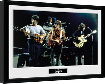 Inramad poster The Beatles - Live