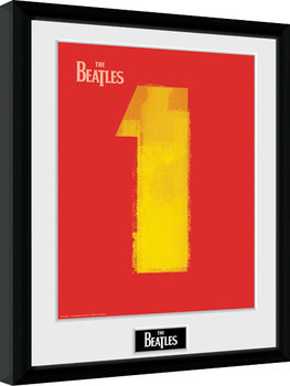 The Beatles - No1 Red Inramad poster