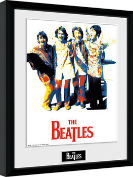 The Beatles - Psychedlic Inramad poster