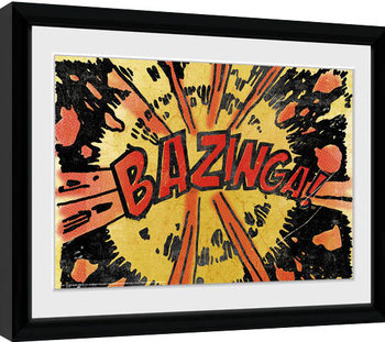 The Big Bang Theory - Bazinga Comic Inramad poster