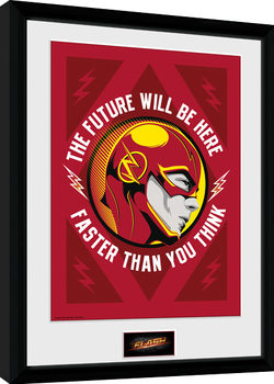 The Flash - The Future Inramad poster