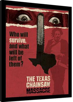 Inramad poster The Texas Chainsaw Massacre - Motorsågsmassakern - Newsprint