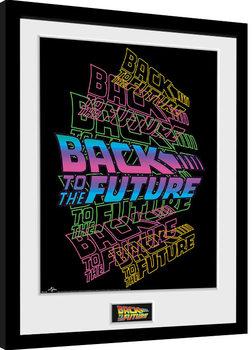 Tillbaka till framtiden - Neon Inramad poster