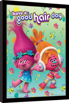 Trolls - Have A Good Hair Day Inramad poster