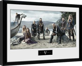 Inramad poster Vikingovia - Beach