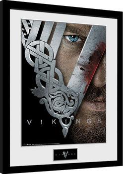 Inramad poster Vikingovia - Keyart