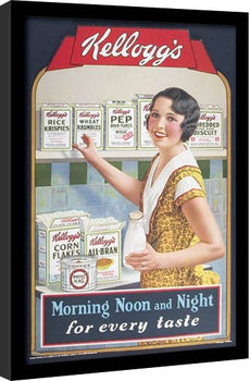 VINTAGE KELLOGGS - morning,noon & night Inramad poster