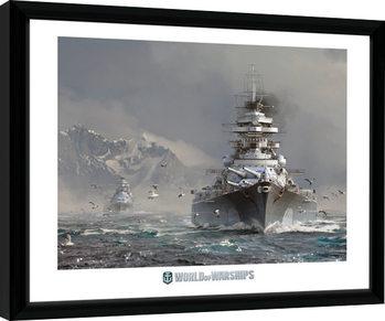 Inramad poster World Of Warships - Bismark