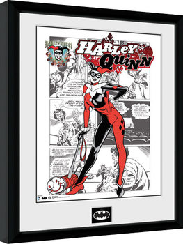 Batman Comic - Harley Quinn Comic Poster encadré