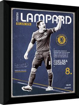 Chelsea - Lampard Retro Poster encadré