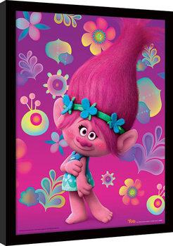 Les Trolls - Poppy Poster encadré