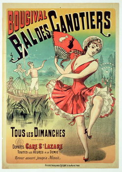 Poster for the 'Bal des Canotiers, Bougival' Festmény reprodukció