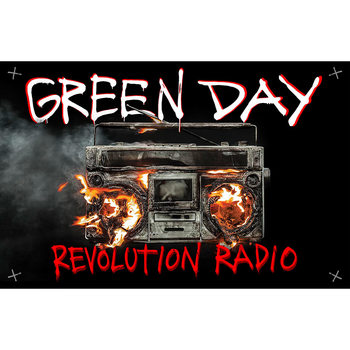 Poster in Tessuto Green Day - Revolution Radio