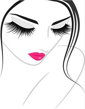 Lash extension beauty icon Poster Incorniciato