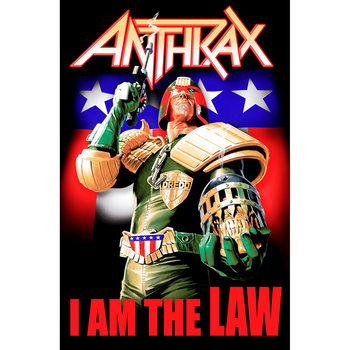 Poster textile Anthrax - I Am The Law