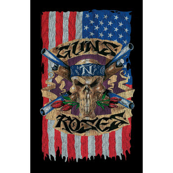 Poster textile Guns N Roses - Flag