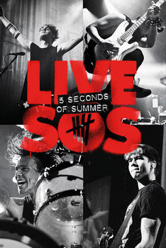 Póster  5 Seconds of Summer - Live SOS