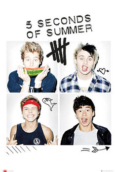 Póster  5 Seconds of Summer - Squares