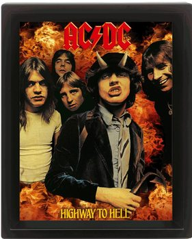 Póster 3D AC/DC - higway to hell