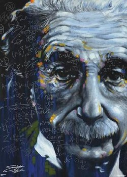 Póster  Albert Einstein - stephen fishwick