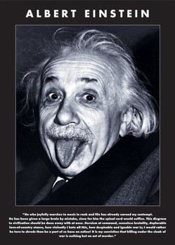 Albert Einstein - tongue Poster / Kunst Poster