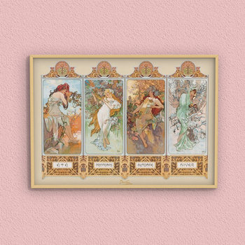 Póster Alfons Mucha – four seasons