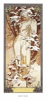 Alfons Mucha – hiver, 1900 Poster