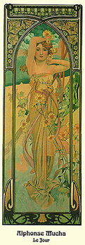 Alphonse Mucha - Le Jour, 1899 Poster
