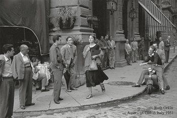 American girl in Italy, 1951 Kunstdruk