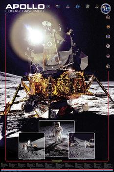 Poster Apollo lunar landings