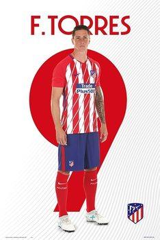 Póster Atletico De Madrid 2017/2018 -  F. Torres