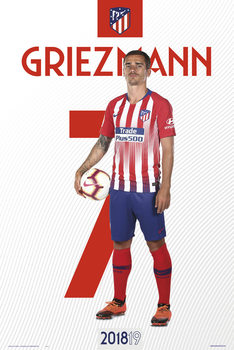 Póster Atletico De Madrid 2018/2019 - Griezman