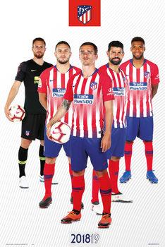 Póster  Atletico De Madrid 2018/2019 - Grupo