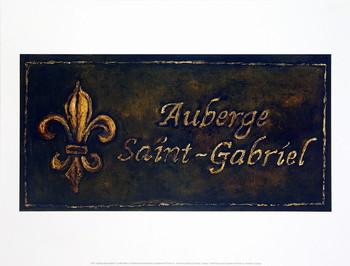 Auberge Saint-Gabriel Kunstdruk