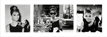Audrey Hepburn - Breakfast at Tiffany's Triptych Poster / Kunst Poster