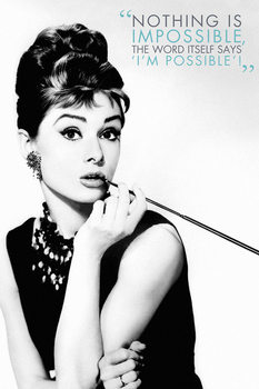 Póster Audrey Hepburn - Nothing is impossible